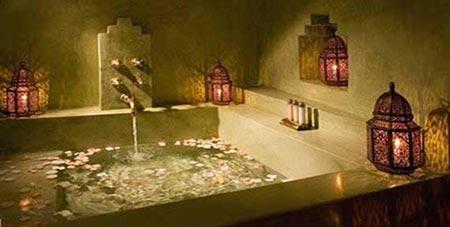 Оформление ванной комнаты в марокканском стиле