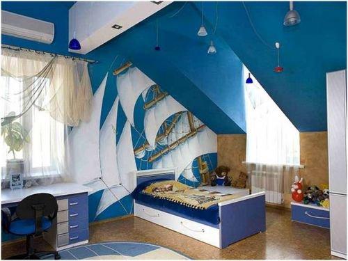 Мебель для детской на мансарде