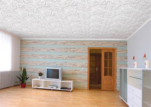 Современная отделка потолков