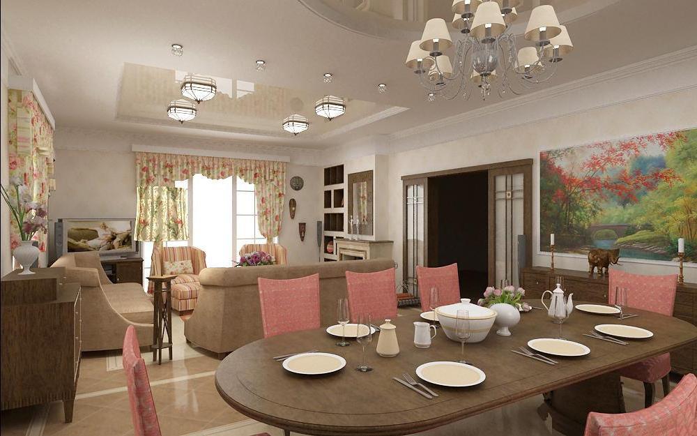 Гостиная с балконом и дизайн интерьера