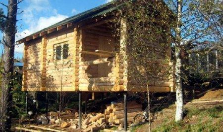 Дом на свайно-винтовом фундаменте