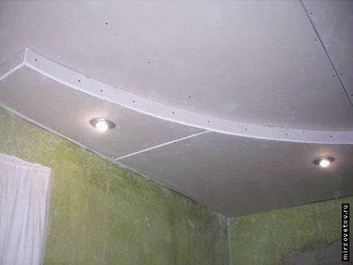 Как сделать потолок из гипсокартона в два уровня