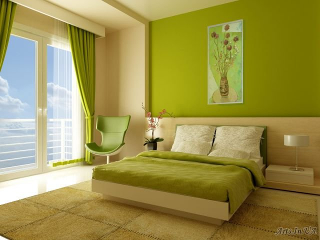 Выбор цвета обоев в спальную комнату