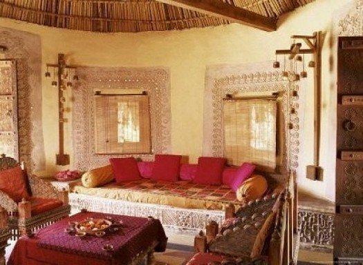 Индийский стиль в интерьере помещения