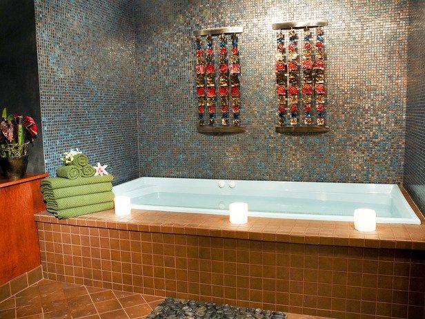 Использование восточного стиля  в интерьере при ремонте ванной комнаты.