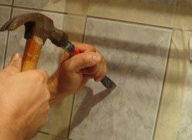 Как устранить поврежденные места в облицовке керамической плиткой