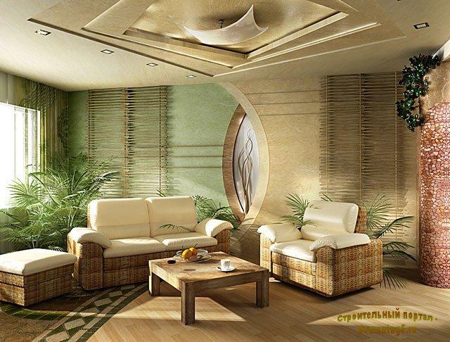Гостиная в стиле фэн-шуй