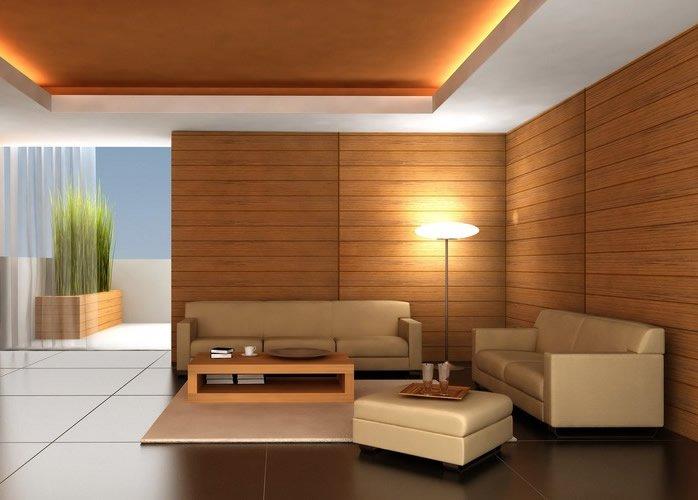 Натуральная древесина  в интерьере помещения