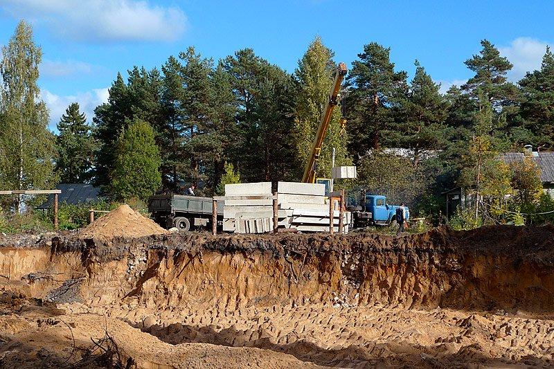 Подготовка площадки под строительство дома