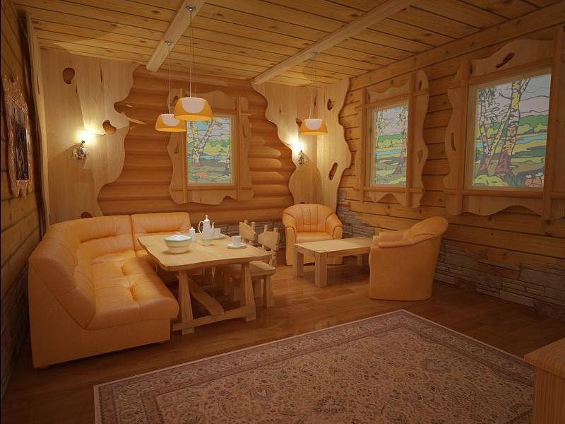 Комната отдыха в бане – обустройство