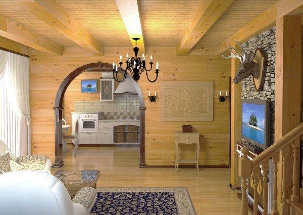 Дом из бруса – внутренняя отделка