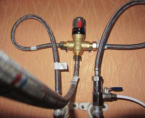 Достоинства термостатических смесителей