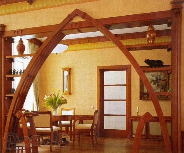 Дверные арки из древесины