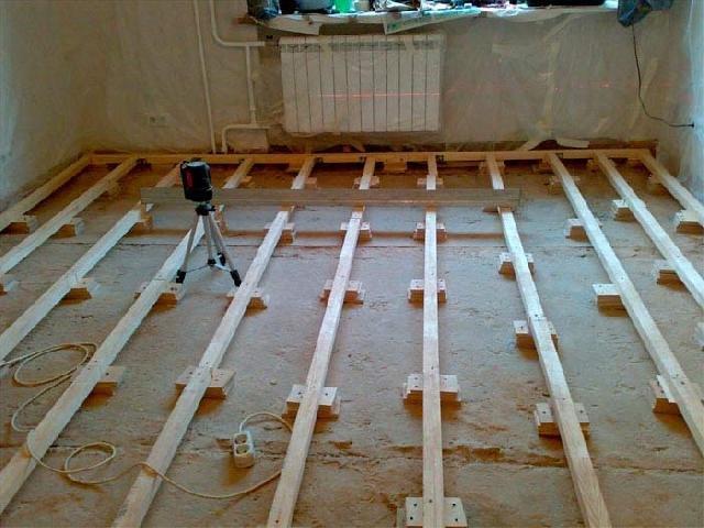 Подготовка под устройство деревянных полов