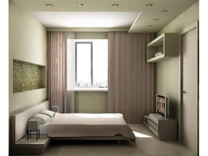 Интерьер спальни небольших размеров