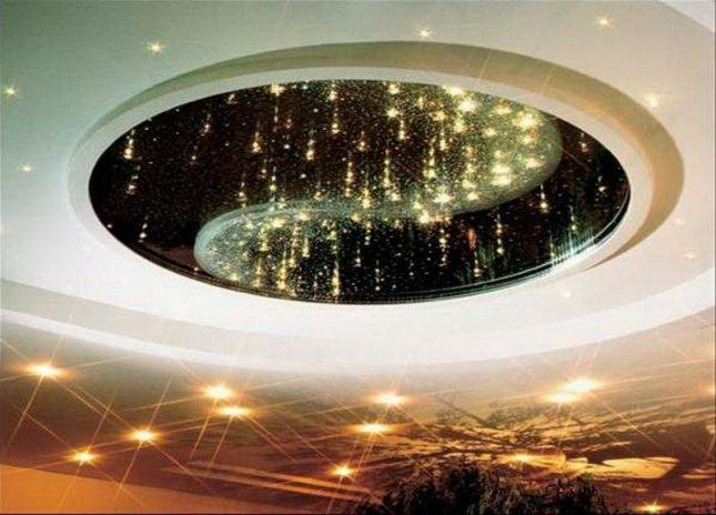 Звездный потолок в интерьере помещения