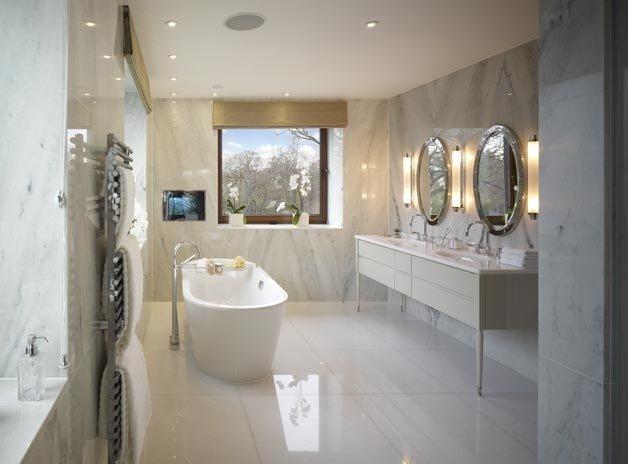 Применение мрамора в интерьере помещения