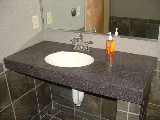Особенности выбора столешницы для ванной и уход за нею
