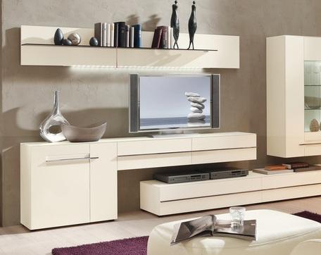 Современный стиль в интерьере гостиной комнаты