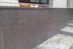 Как отделать фасад частного дома натуральным гранитом
