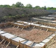 Строительство ленточного фундамента под дом из бруса