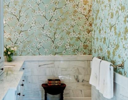 Как выбрать правильно цвет обоев в ванной