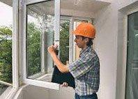 Установка алюминиевого окна