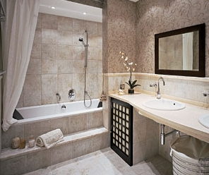 Ванные комнаты в городских квартирах