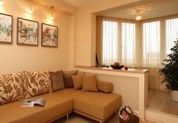 Идеи объединения интерьера балкона и гостиной