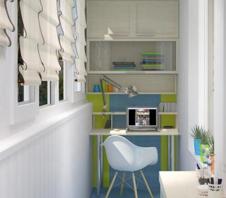 Обустраиваем балкон или лоджию под рабочий кабинет