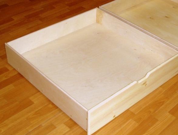 Выдвижные  ящики:  два варианта