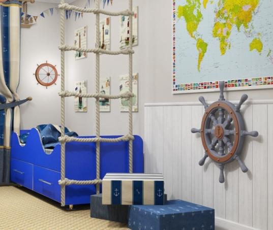 Дизайн для детской в морском стиле