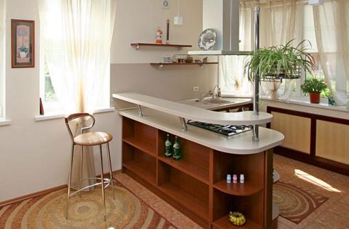 Столовая и кухня в одном помещении