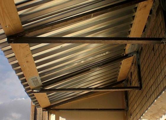 Крыша для балкона
