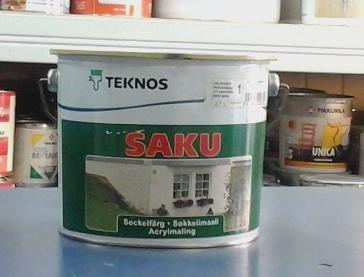 Teknos Saku краска для отделки бетонных и оштукатуренных цоколей