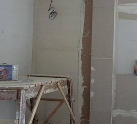 Окрашивание стен из гипсоплиты