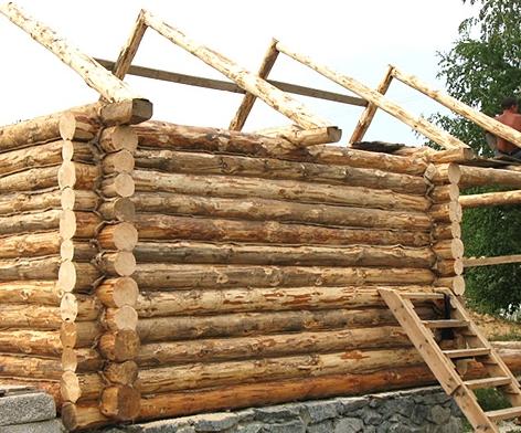 Строим баню из брёвен