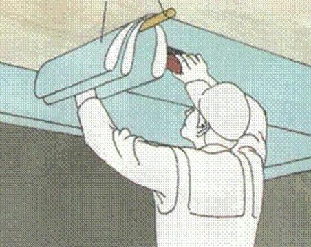 Как обклеить потолок гипсокартоном