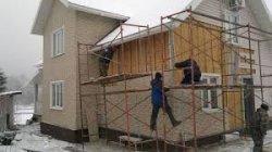 Отделка частного дома виниловым сайдингом