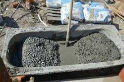 Как месить бетон в минус