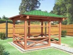 Как построить деревянную беседку