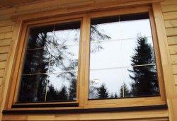 Как установить деревянное окно своими руками