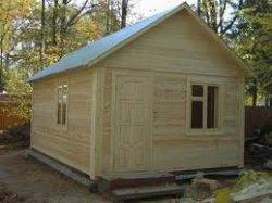 Как построить баню из массива дерева