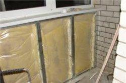 Как утеплить стены балкона минеральной ватой