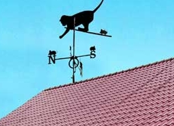 Как выбрать и установить флюгер на крышу