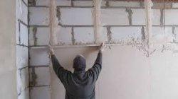 Самостоятельное оштукатривание стен