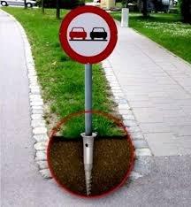 Как установить дорожный знак
