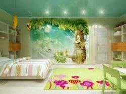 Отделка стен детской комнаты