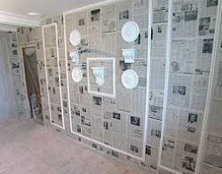 Отделка стен. Газеты