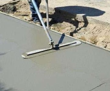 Как сделать бетонную стяжку на улице?